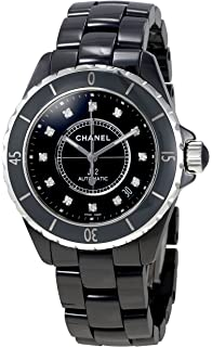 amazon com chanel men s h0685 j12 black dial watch chanel watches chanel j12 swiss automatic mens watch h1626 certified pre owned