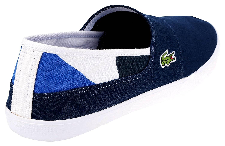 Lacoste Sport Scarpe Scarpa Uomo Navy Blu Jeans Marice 117 2 Cam Nvy Canvas  Tela Mocassino Molla Elastico Sneaker  Amazon.it  Scarpe e borse 80edec8b58f