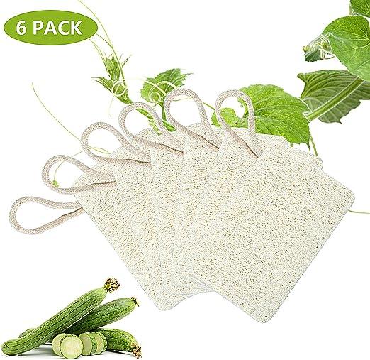 Joeyer 6 Pack Loofah Esponja, Biodegradable Natural Esponja para ...
