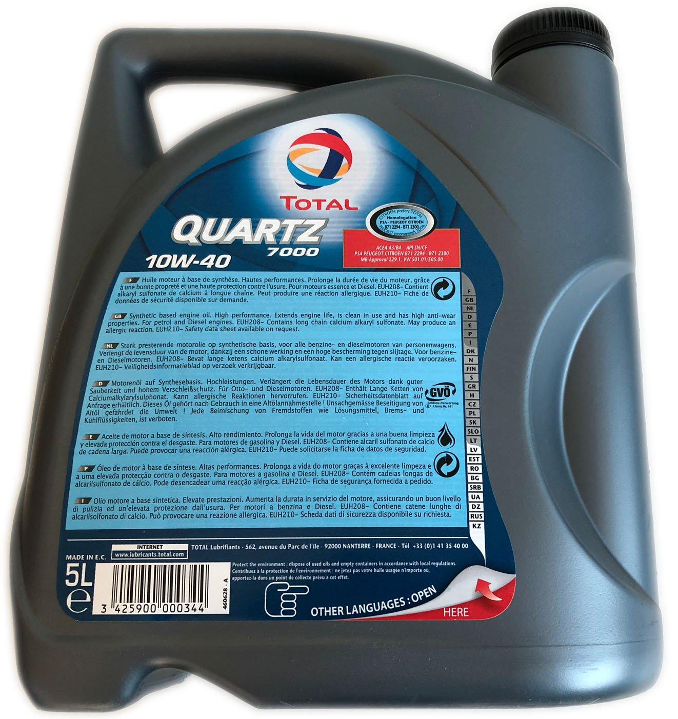Lubricante sintético desarrollado para todo tipo de motores gasolina o diesel de vehÃculo ligero en todos los tipos de conducción.: Amazon.es: Coche y ...