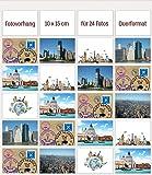 10 x 15 cm photos - Porte-photos à pochettes - 24 vues format paysage