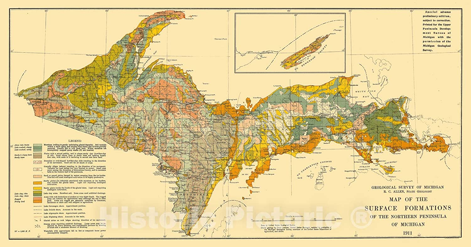It is a graphic of Printable Map of Upper Peninsula Michigan with regard to tourism