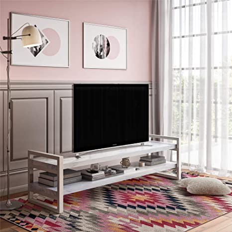 Cosmoliving Coco Tv Stand For Tvs Up To 65 White Marble Furniture Decor