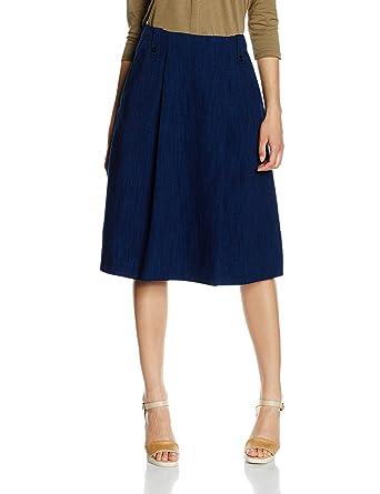 089b0b2d85 Marc O'Polo Damen Rock Baum Wolle Skirt Unifarben, Größe: 38, Farbe ...