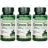 Nature's Bounty Green Tea Extract, 315mg, 300 Capsules (3 X 100 Count Bottles)