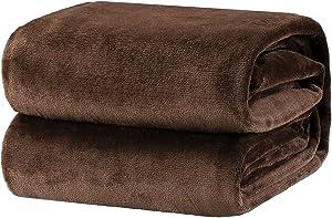Bedsure Fleece Blanket Throw Size Brown Lightweight Super Soft Cozy Luxury Bed Blanket Microfiber