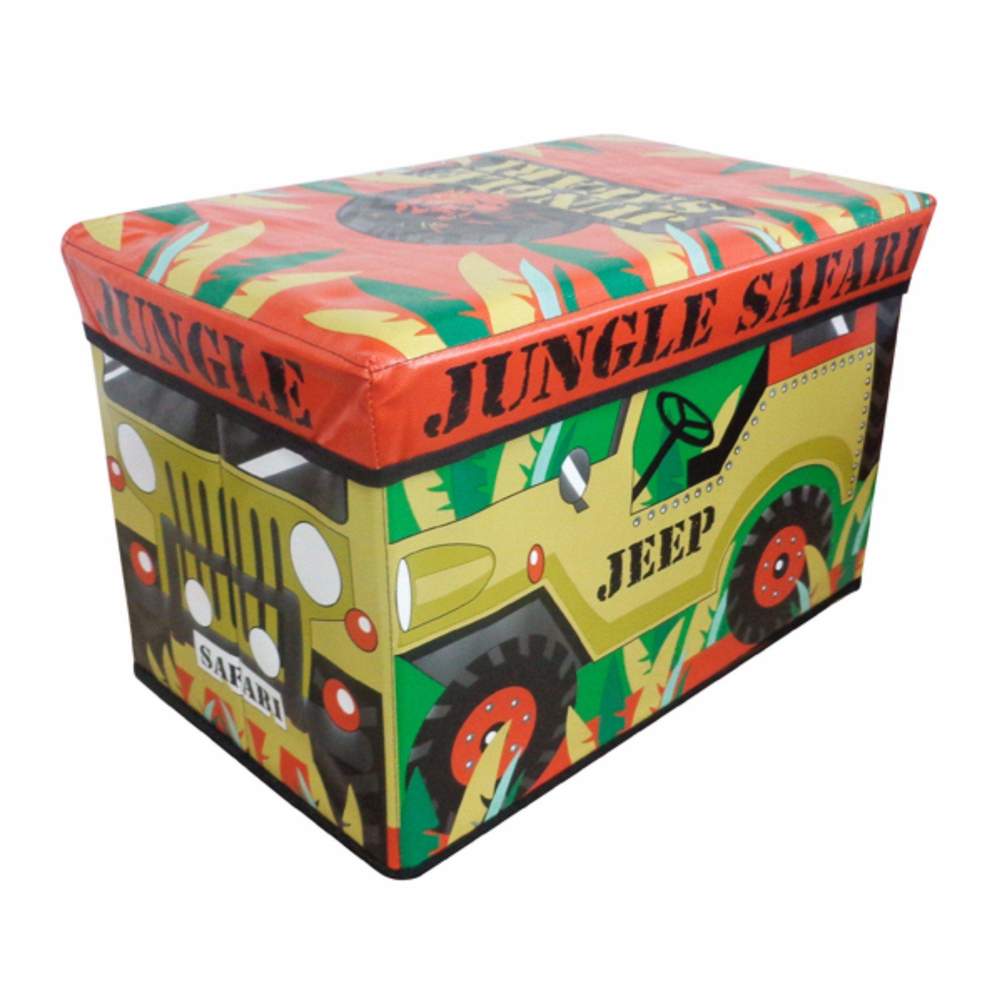 Universal Textiles Childrens/Girls Jeep Design Folding Storage Chest (One Size) (Jeep)