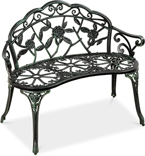 Choice Products Steel Garden Bench Loveseat Outdoor Furniture