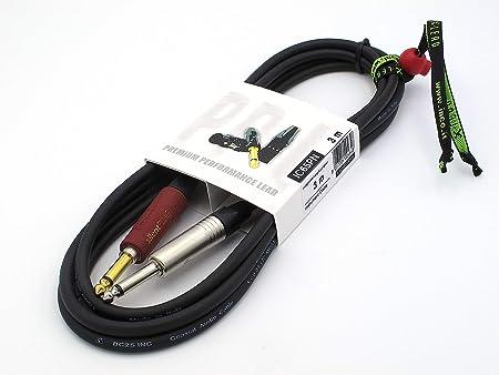 X-LEAD IC65PN030BK Serie PLATINUM, cable de instrumento de calidad para guitarra, bajo y teclados - Jack to Jack - Conectores NEUTRIK originales - (3 ...
