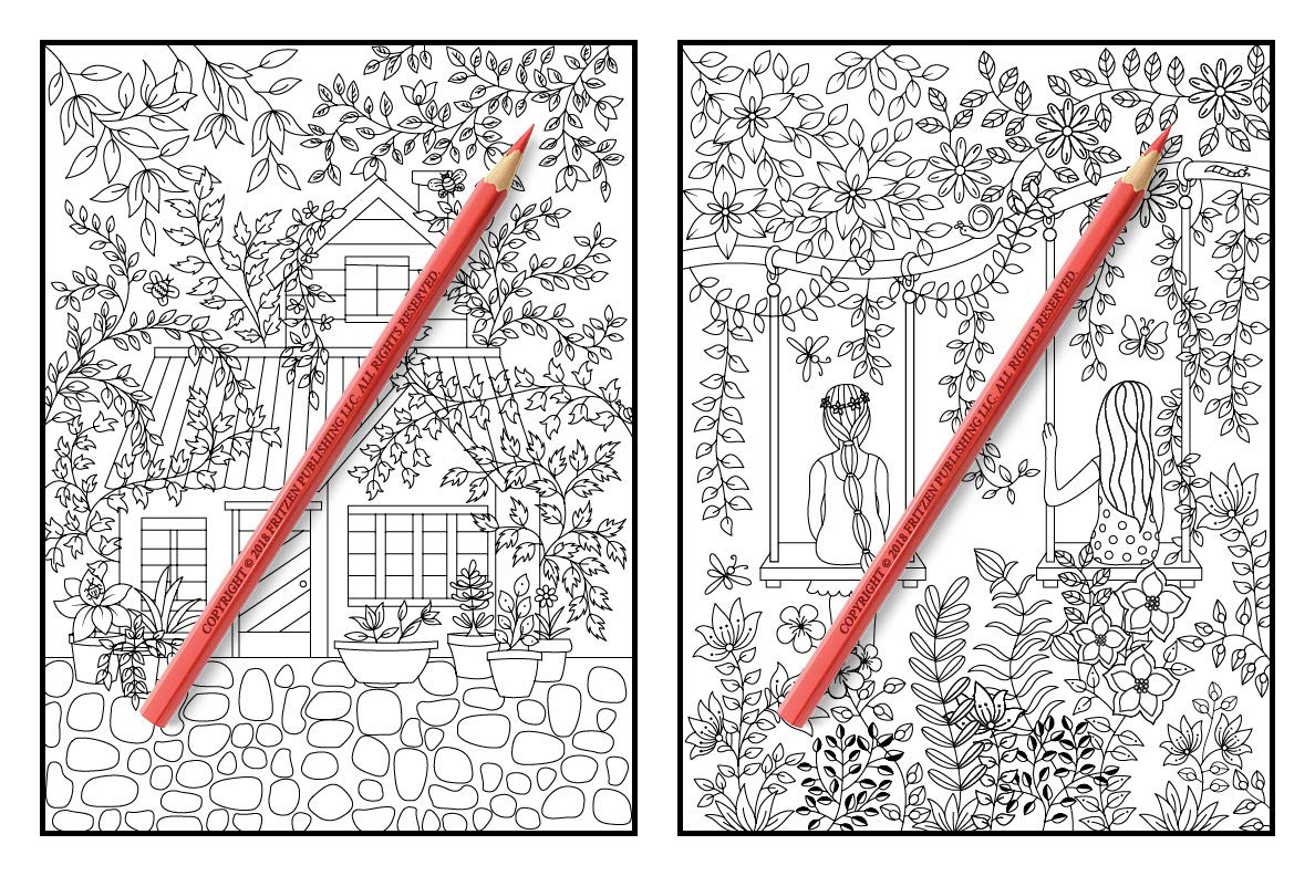 Amazon Hidden Garden An Adult Coloring Book With Magical Floral Patterns Adorable Animals And Beautiful Forest Scenes For Relaxation