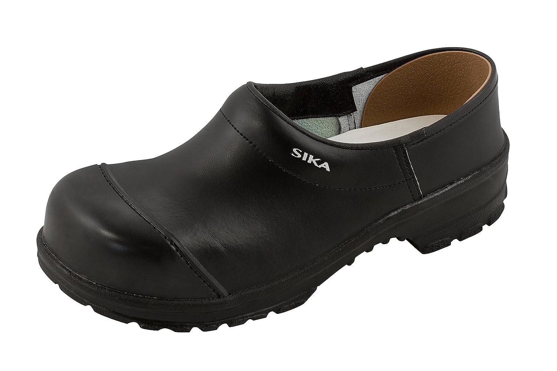 SIKA Comfort Clogs geschlossen mit Holz-Fu/ßbett schwarz OB