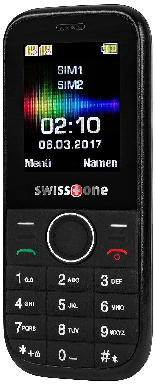 Swisstone 450080D210(1,7Pulgadas, Dual SIM), Color Negro