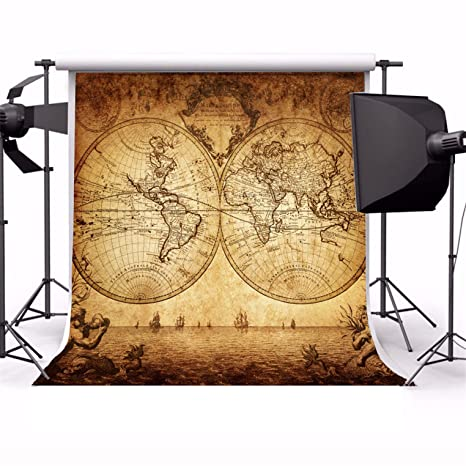 Amazon aofoto 8x8ft vintage map of the world backdrop retro aofoto 8x8ft vintage map of the world backdrop retro photography background kid adult boy portrait seamless gumiabroncs Images