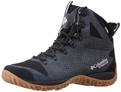 b7b7525227 Columbia Men s Peakfreak Venture Titanium Outdry Black Leather Trekking  Shoes-7 UK India (