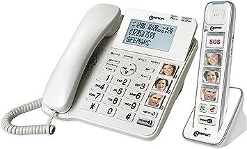 Geemarc Schnurgebundenes teléfono para Personas Mayores AMPLIDECT Combi-Photo 295 contestador automático (Voz/versión Alemana), Foto-Tasten Bel: Amazon.es: Electrónica