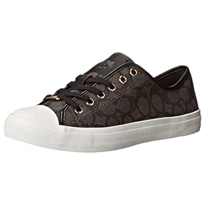 Coach Women's Empire Outline Signature Canvas Black Smoke/Fashion Sneaker - 8M | Shoes