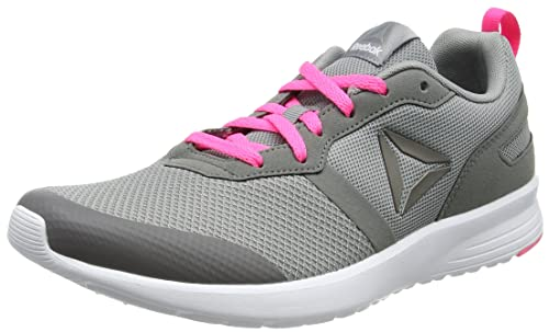 Bs6907, Zapatillas de Running para Mujer, Gris (Flat Grey/Medium Grey/Poison Pink/White/Pewte), 37 EU Reebok