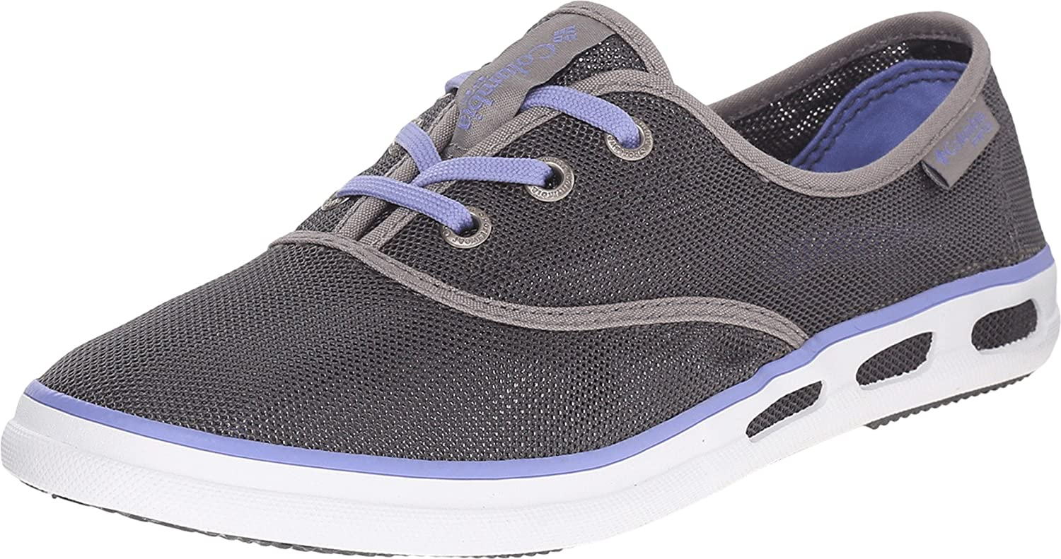 Amazon.com | Columbia Women's Vulc N Vent Lace Mesh PFG Outdoor Sneakers,  Grey Canvas, Rubber, 10.5 M | Water Shoes