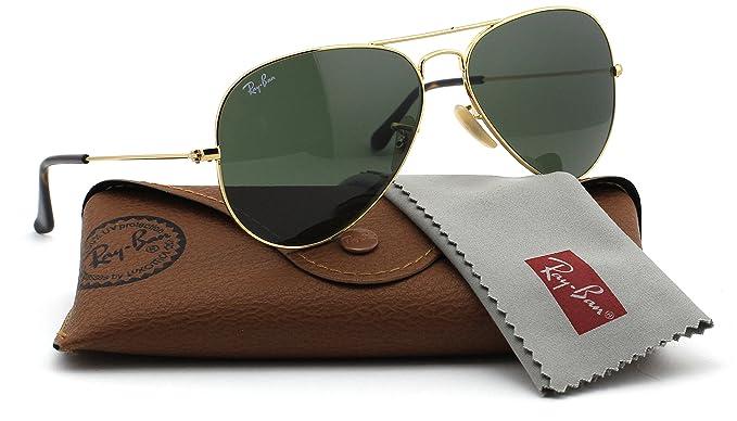 Ray-Ban RB3025 181 Unisex Aviator Sunglasses (Gold Frame Dark Green Lens 181 7c8337c7cd