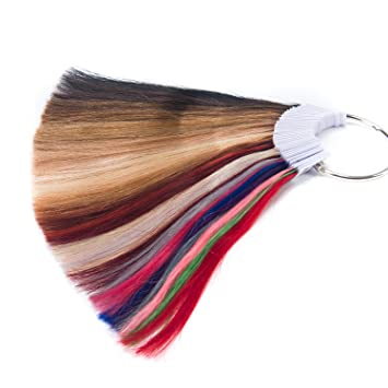 TOFAFA Hair Extensions Color Rings Hair Color Chart 100% Human Hair Sample  Color Rings Swatches