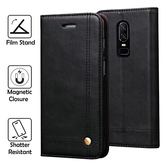brand new e7e29 4737a OnePlus 6 Case, REAL-EAGLE Oneplus 6 Wallet Case,OnePlus 6 Premium PU  Leather Wallet Protection Case with [Kickstand] [Card Slots] [Magnetic  Closure] ...