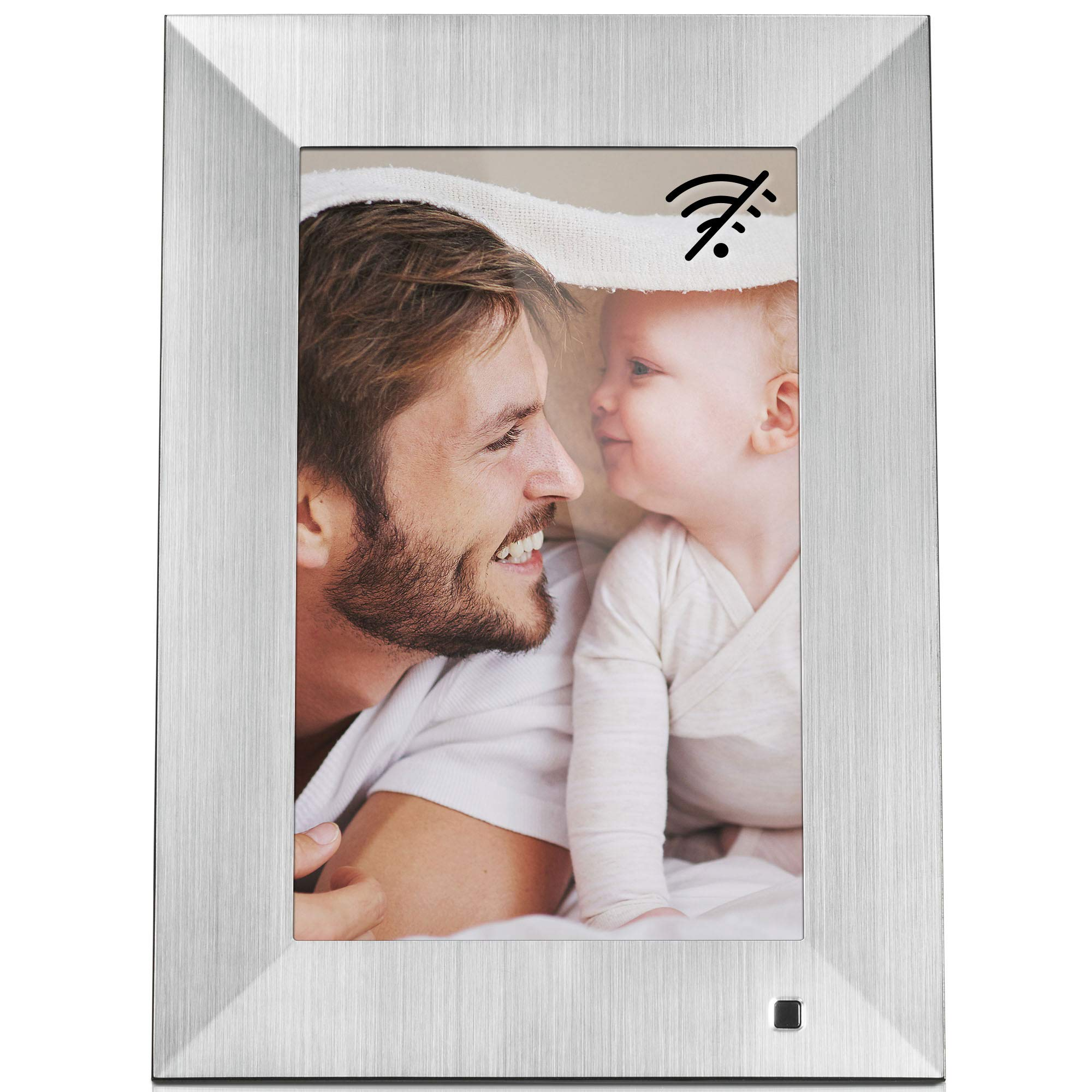 NIX Lux 10-Inch Digital Photo Frame X10J Metal (Non-WiFi) - Wall-Mountable Digital Frame with 1280x800 HD IPS Display, Motion Sensor, USB and SD Card Slots and Remote Control, 8 GB USB Stick Included by NIX