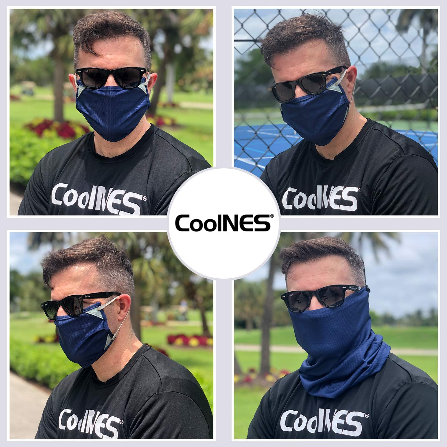 CoolNES Reusable Face Covering UPF 50+