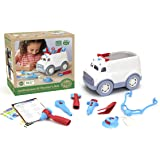 Green Toys Ambulance & Doctor's Kit Role Play Set, Red/Blue