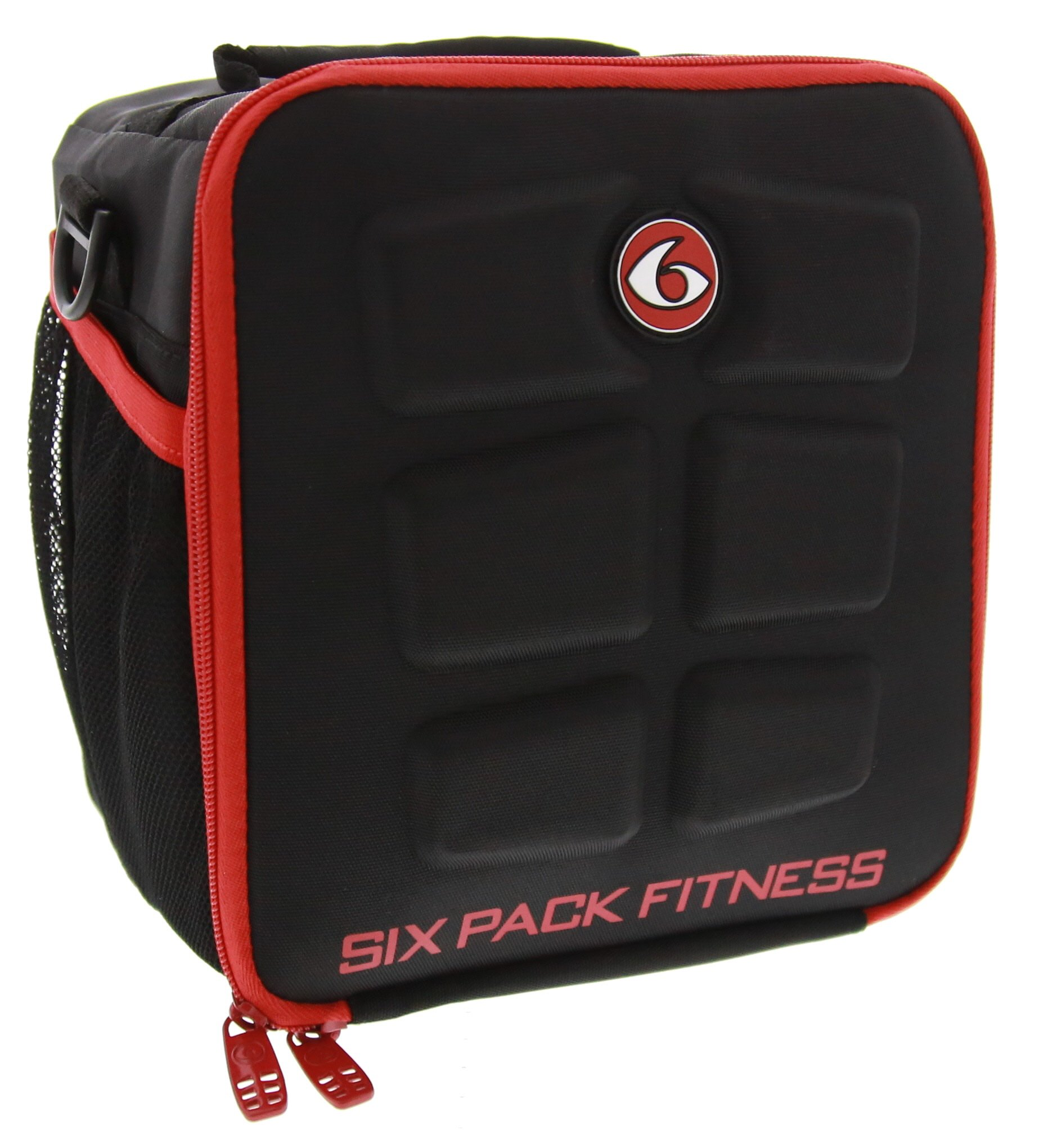 6 Pack Fitness Cube Americas #1 Choice in Meal Management 3 - Meal (Black/Red) by 6 Pack Fitness