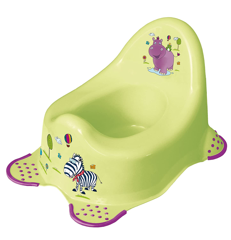 3er Set Hippo grün Topf + WC Aufsatz + Hocker Toilettentrainer OKT Kids