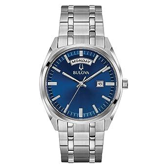 27f00b6e909 Amazon.com  Bulova Men s Classic Quartz Watch with Stainless-Steel ...