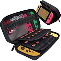ButterFox Carrying Case Stand Compatible with Nintendo Switch with 19 Game Card Holders - Black