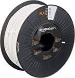 AmazonBasics PLA 3D Printer Filament, 1.75mm, White, 1 kg Spool