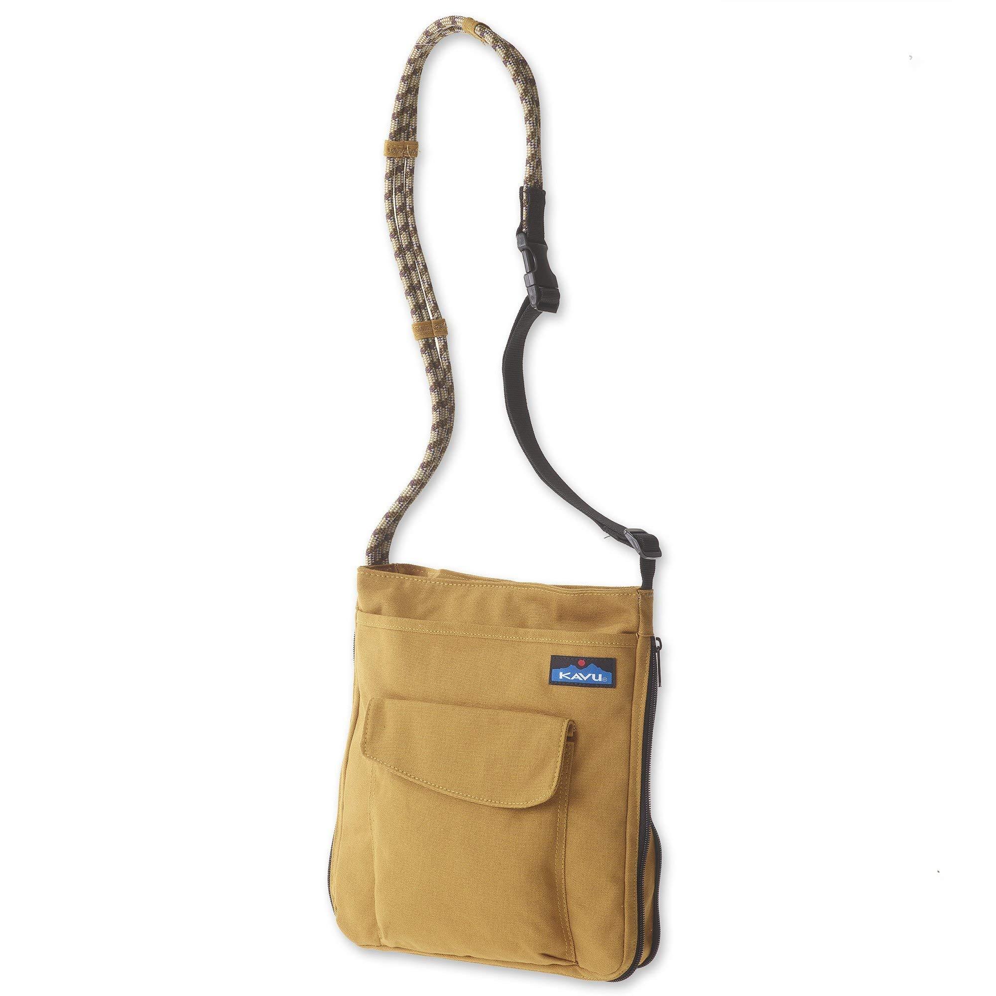 KAVU Sidewinder Crossbody Bag with Adjustable Rope Strap - Tobacco
