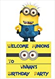Personalized Minion Theme Welcome Banner