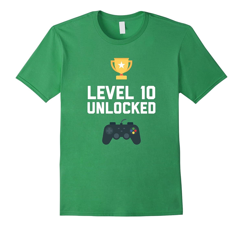 10th Birthday Shirt Gift 10 Year Old Level Up Gamer Tshirt ANZ