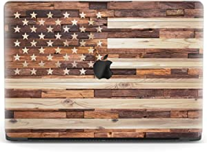 Mertak Hard Case for Apple MacBook Pro 16 Air 13 inch Mac 15 Retina 12 11 2020 2019 2018 2017 Stars American Flag Shell Protective Clear Wooden Cover Stripes Women USA Patriotic Laptop Touch Bar