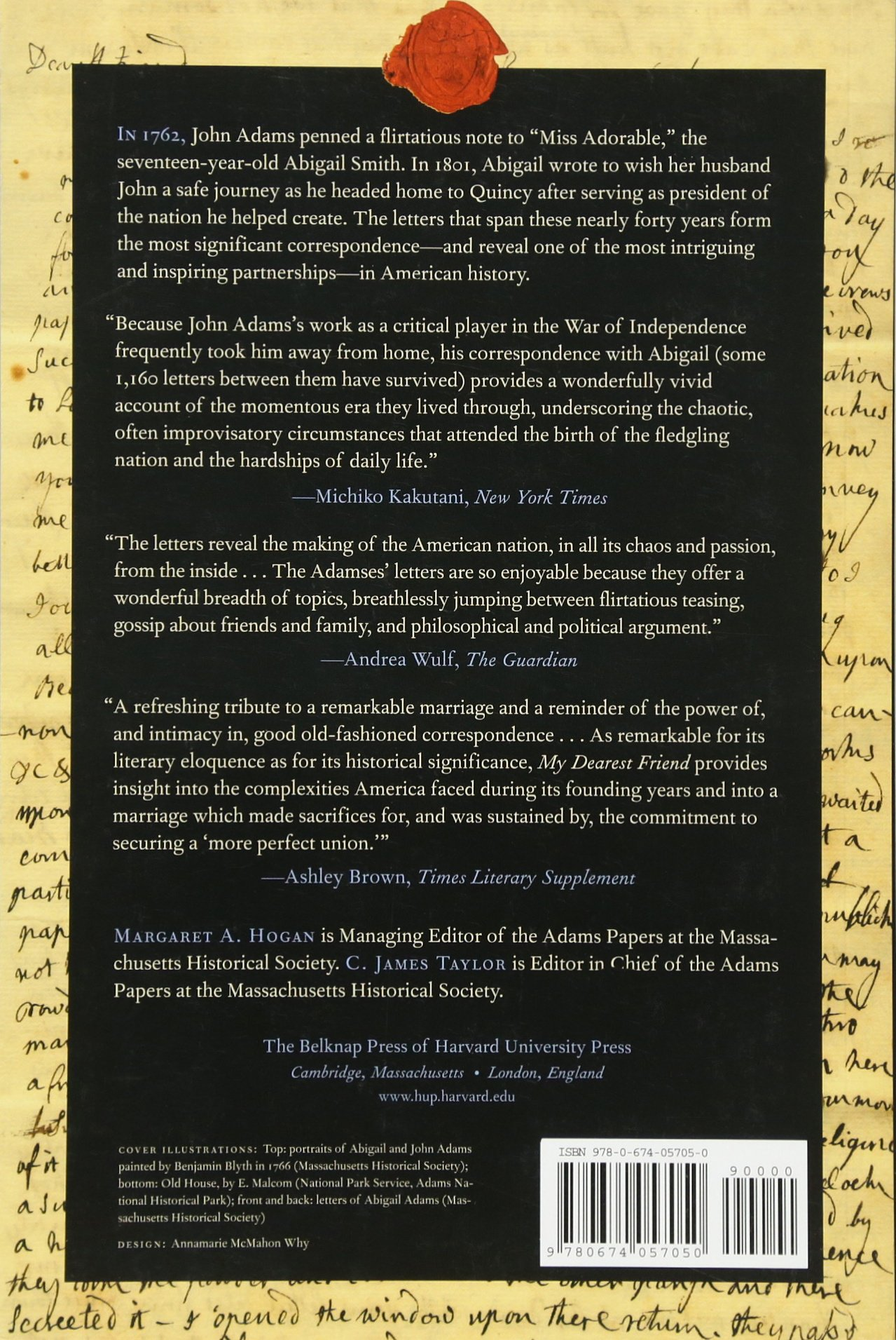 Amazon: My Dearest Friend: Letters Of Abigail And John Adams  (9780674057050): Abigail Adams, John Adams, Margaret A Hogan, C James  Taylor,