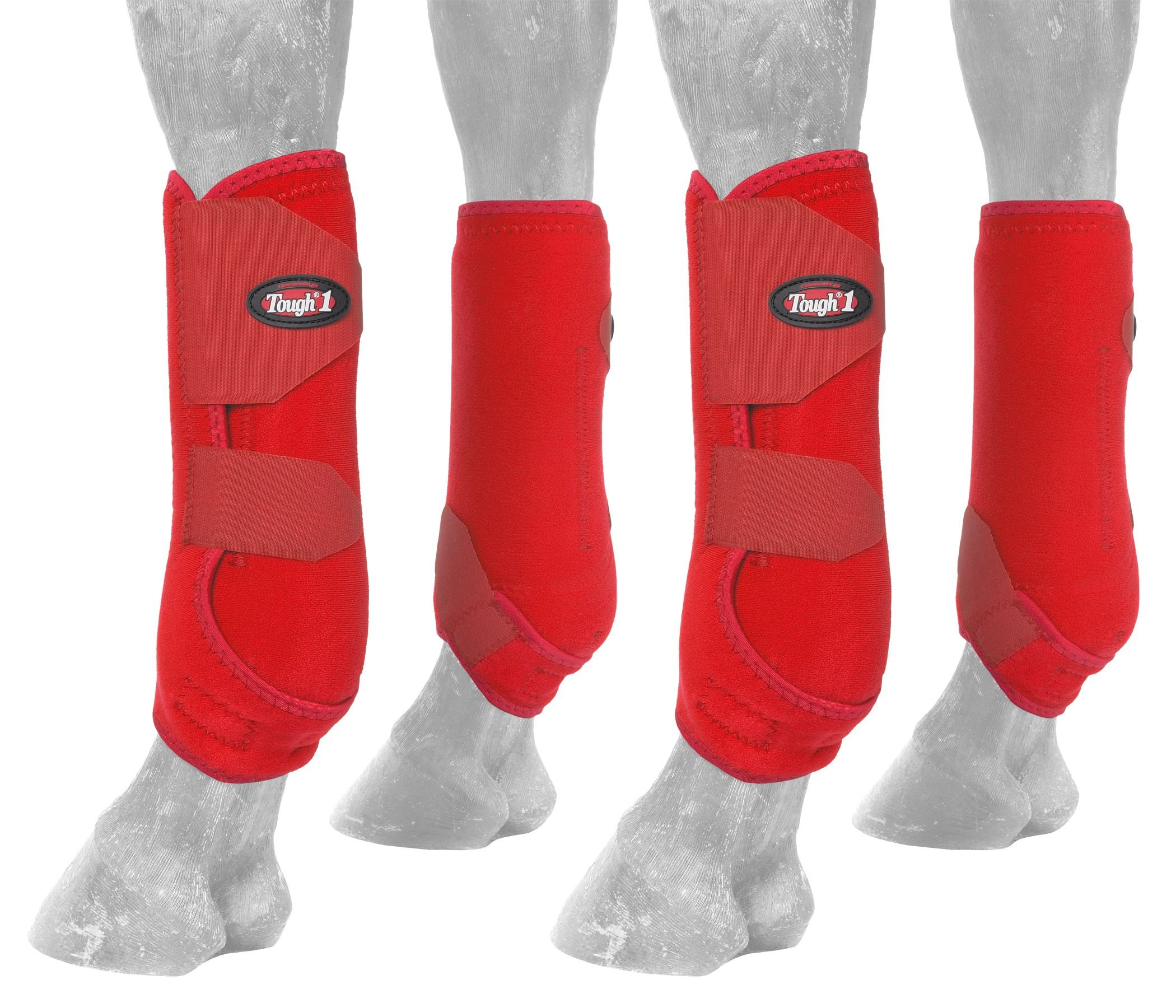 Tough 1 Extreme Vented Sport Boots Set, Red, Large