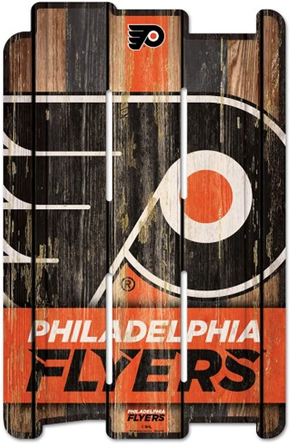 WinCraft NHL Wood Fence Sign