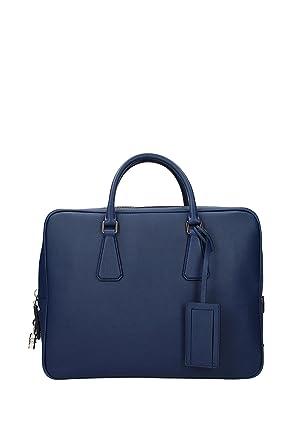 69d12586a4 Work bags Prada Men - Leather (VS0305BLUETTE)