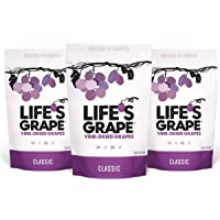 Life's Grape Classic Vine Dried Grapes | Raisins Revamped | No Sugar Added | California Grown | Vegan, Non-GMO, Gluten Free, Kosher, 120 Calories | 13 oz (3) Resealable Pouch
