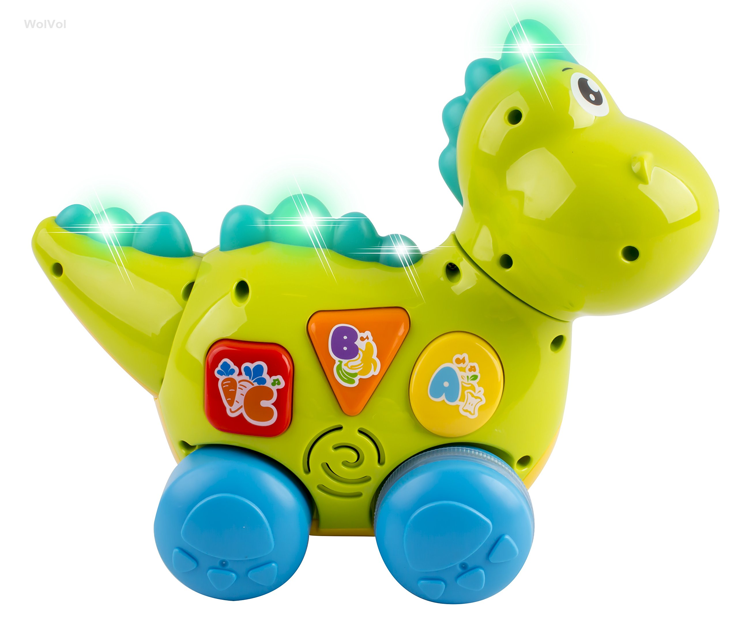 WolVol Talking Dinosaur Toy with Lights and Sounds for Kids - Teaching, Learning, Activity, Walking & Fun Action by WolVol (Image #5)