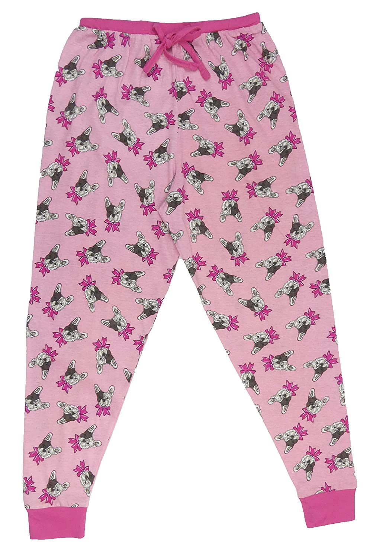 Jim Jams 4U Older Girls Pyjamas French Bulldog Designer 8-15 Years Ideal for Teenagers