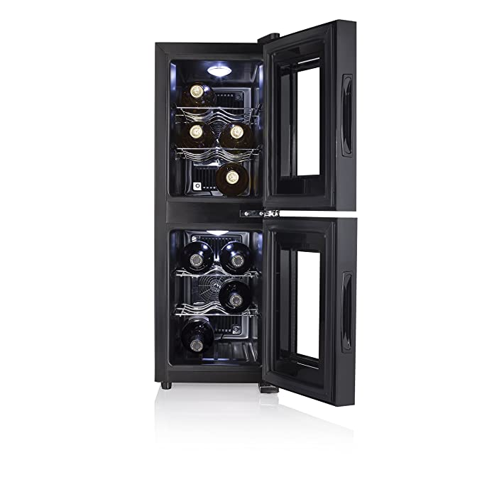 Tristar WR-7512 Dual Zone Vinoteca. Nevera para vinos, 140 W, 32 ...