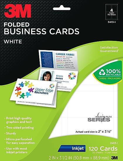 Amazon 3m folded business cards inkjet 2 sided printing 3m folded business cards inkjet 2 sided printing white 2 x colourmoves