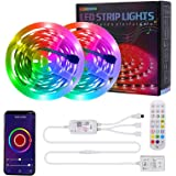 Smart WiFi LED Strip Lights,RGB Light Works with Alexa,Google Home Brighter 5050 LEDs,16 Million Colors, App Controlled…
