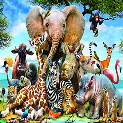 Puzzles for Adults 1000 Piece DIY Set Iseal Jigsaw Puzzles for Adults Perfect Wall Decor (Elephant): Toys & Games