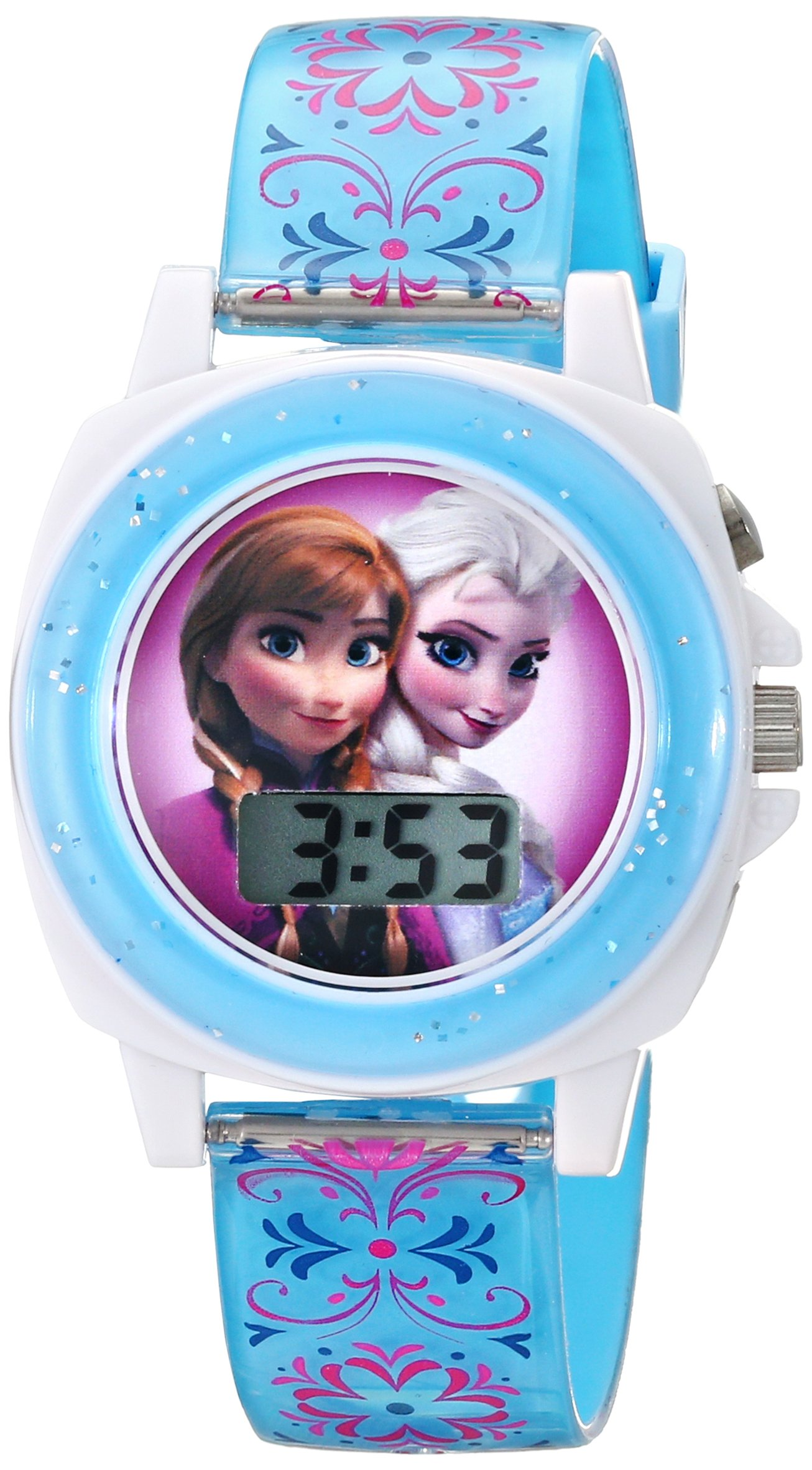 Disney Kids' FZN3588 Frozen Anna and Elsa Blue Watch by Disney