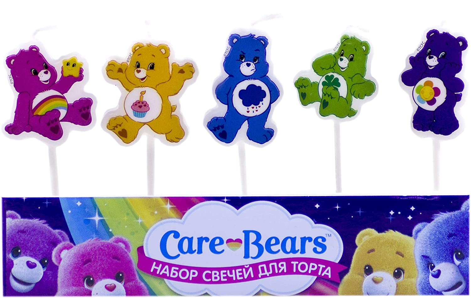 Figures Candles on a Cake Topper Care Bears Must Have Accessories for the Party Supplies and Birthday